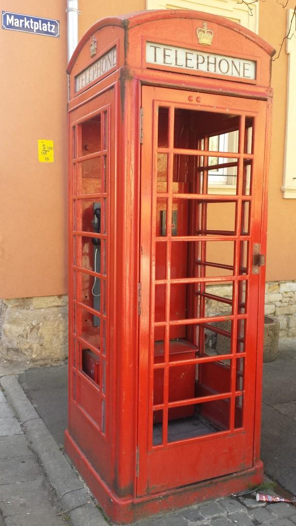 Englische Telefonzelle in Flonheim