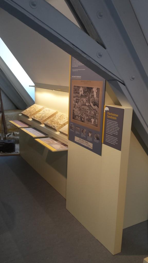 Auch im Museum ein wichtiges Thema: der Sandstein