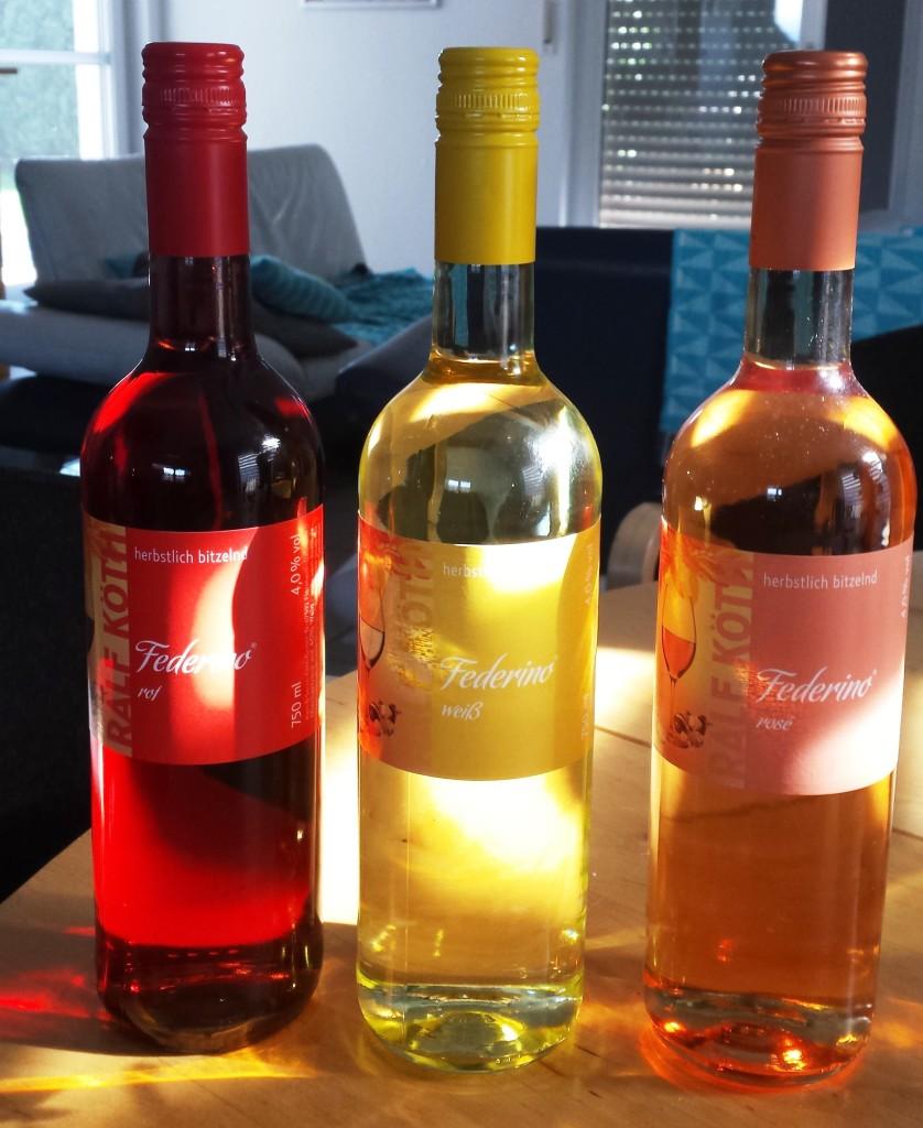 Von der Sonne geküsst: die Federinos (in Rot, Weiß und Rosé)