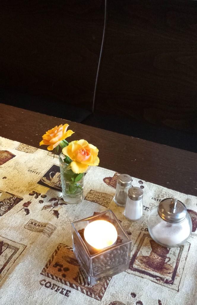 Dekoration im Café