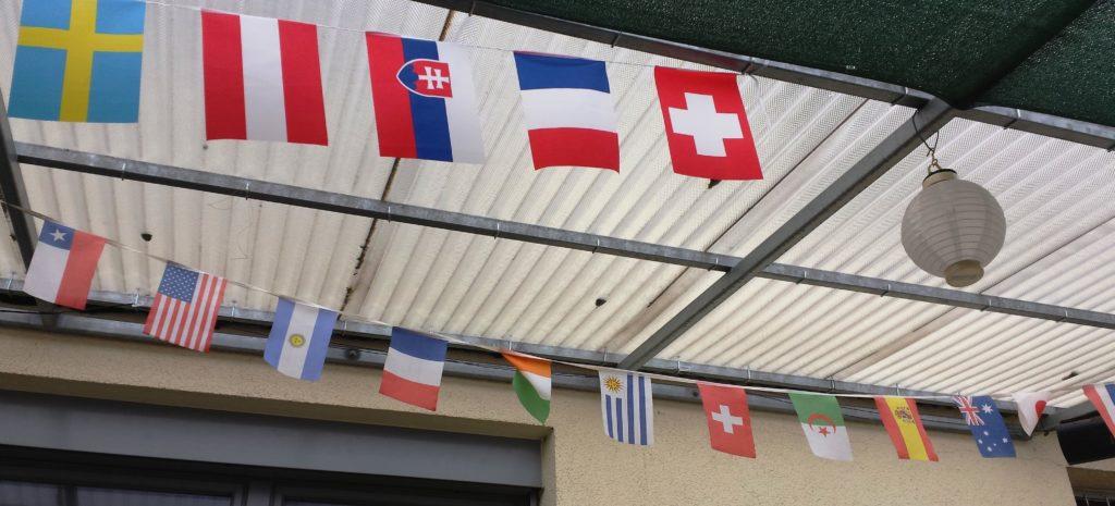 Schee bunt: Auch von außen gefällt mir das das UDP Mainz Restaurante; draußen sitzen kannst du hier sehr gut