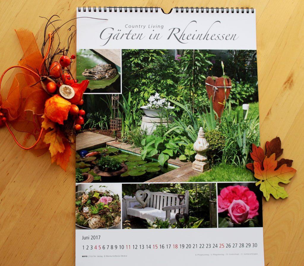 """Wenn ich mich entscheiden müsste, dann wäre der Juni mein Lieblings-Blatt. """"Gärten in Rheinhessen"""" ist übrigens auch ein tolles Geschenk für Rheinhessen- und Gartenliebhaber"""