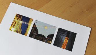Dieses Briefpapier ziert winterliche Mainzer Motive