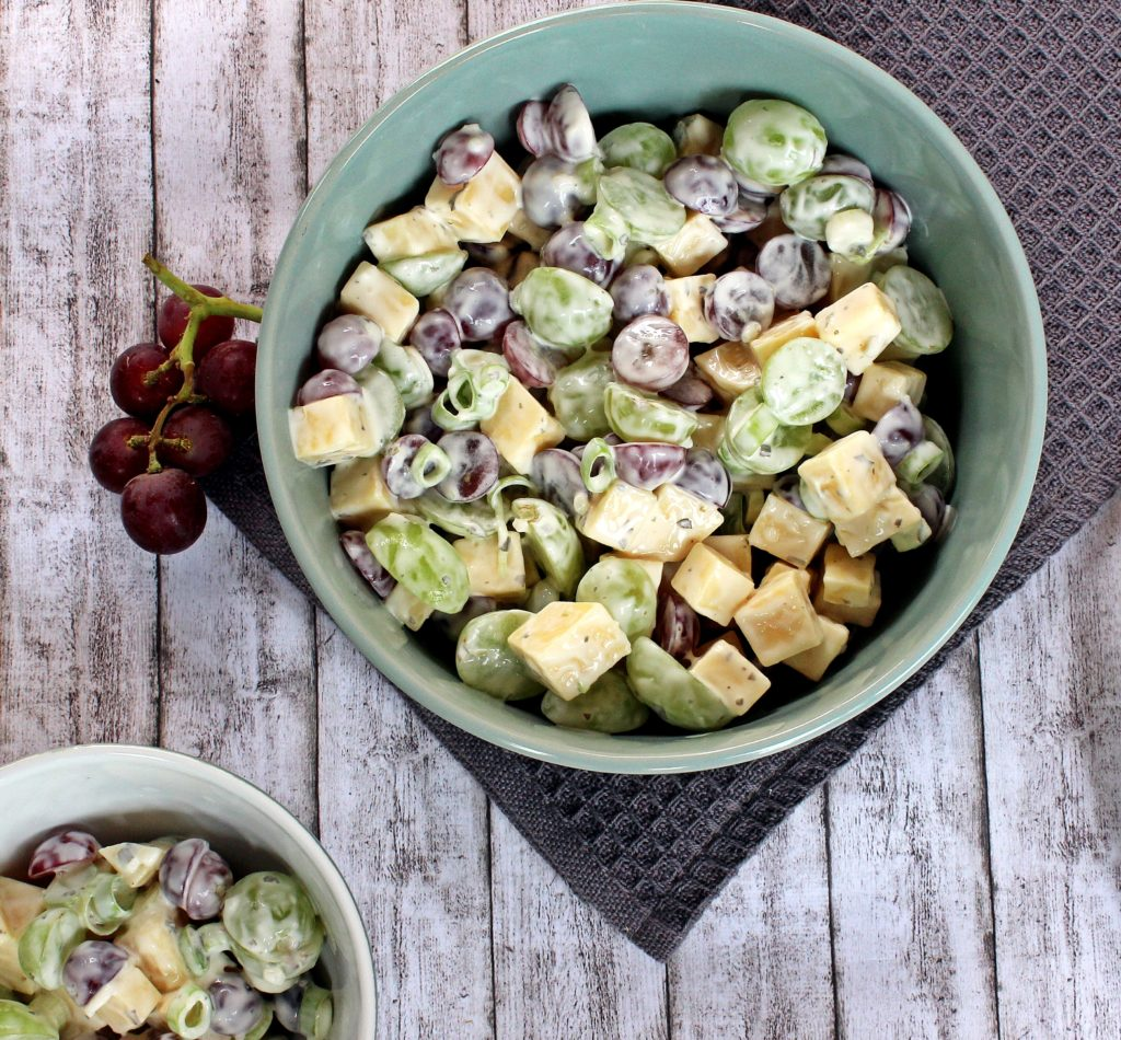 Trauben Käse Salat Vegetarisch Einfach Lecker Rheinhessenliebe