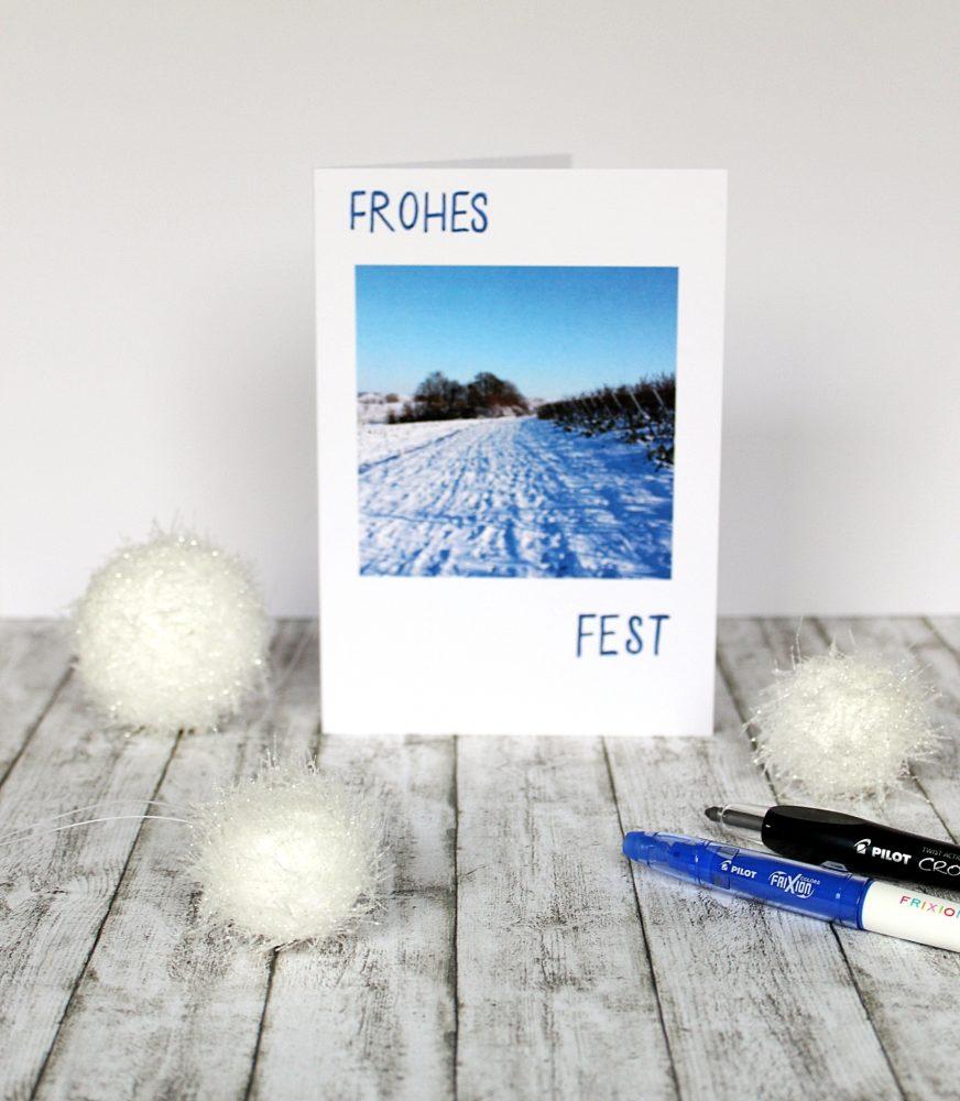 Kreative weihnachtskarten ganz einfach selbst gestalten - Weihnachtskarten kreativ ...
