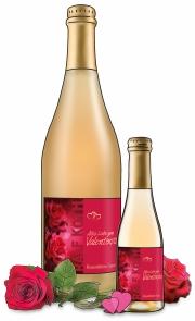 Alles Liebe zum Valentinstag Rosenblüten-Secco