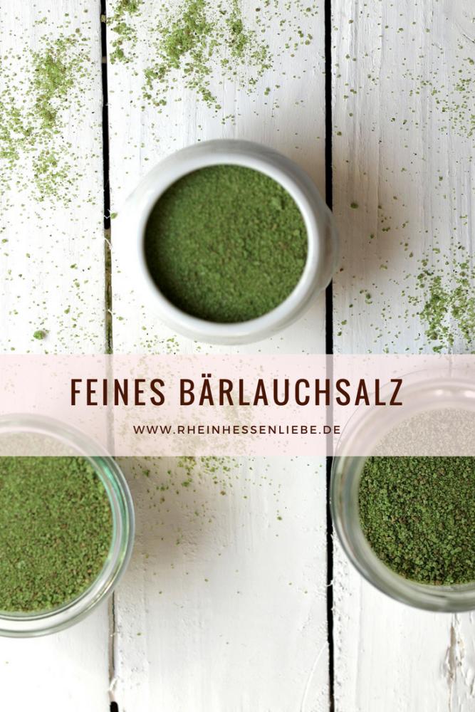 Feines Bärlauchsalz für deine Küche Rheinhessenliebe