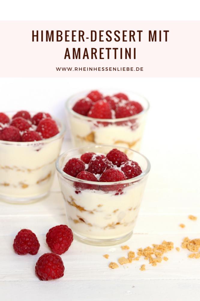 Himbeer-Dessert mit Amarettini
