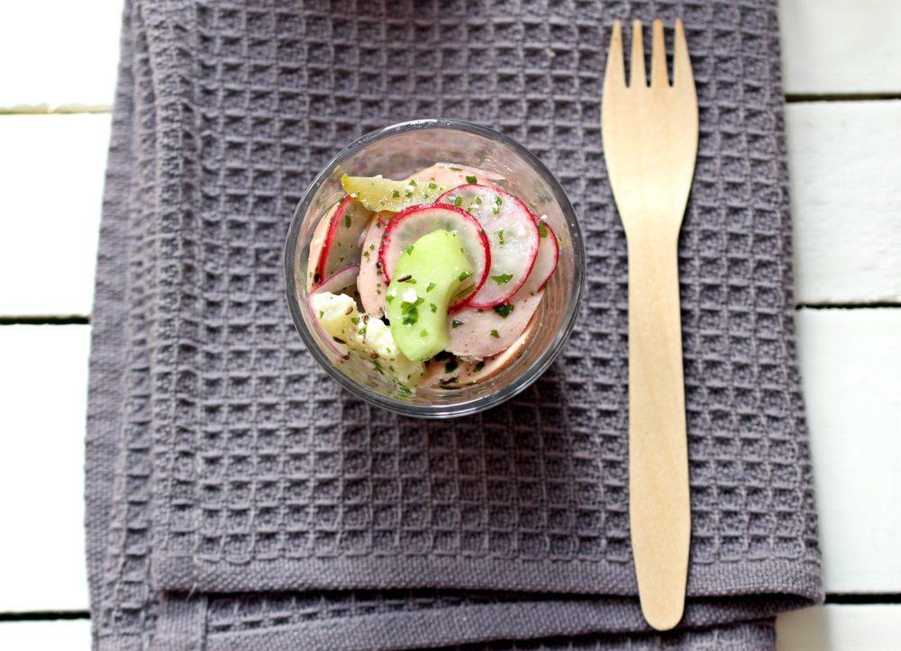 Wurstsalat mit Handkäse