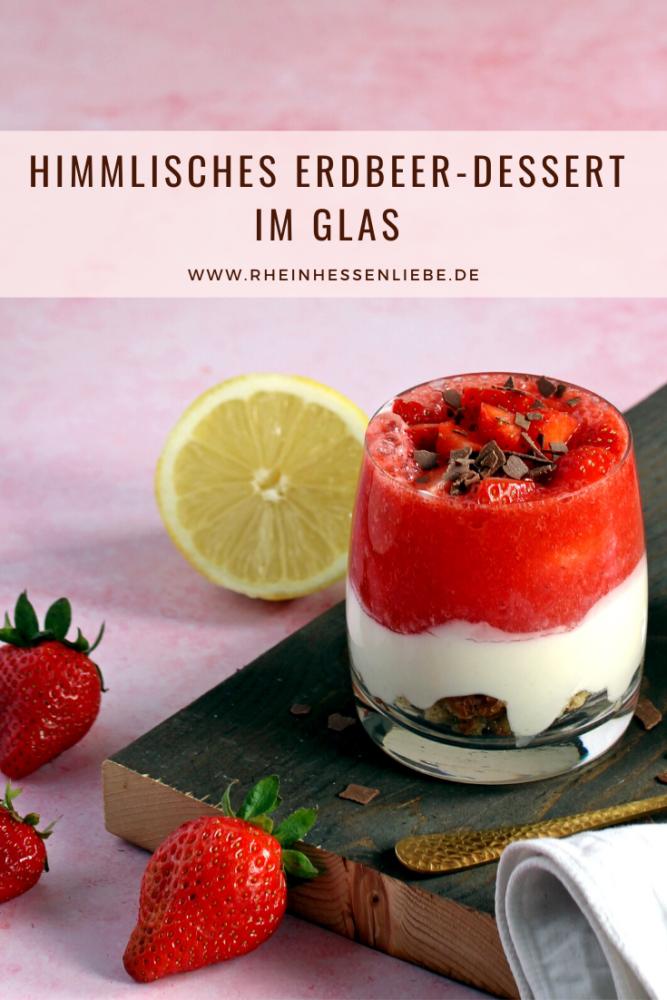 Erdbeer-Dessert im Glas