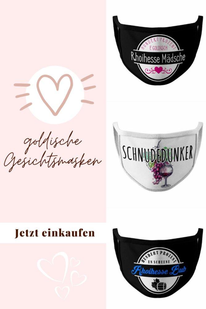 Gesichtsmasken mit Rheinhessen Motiv