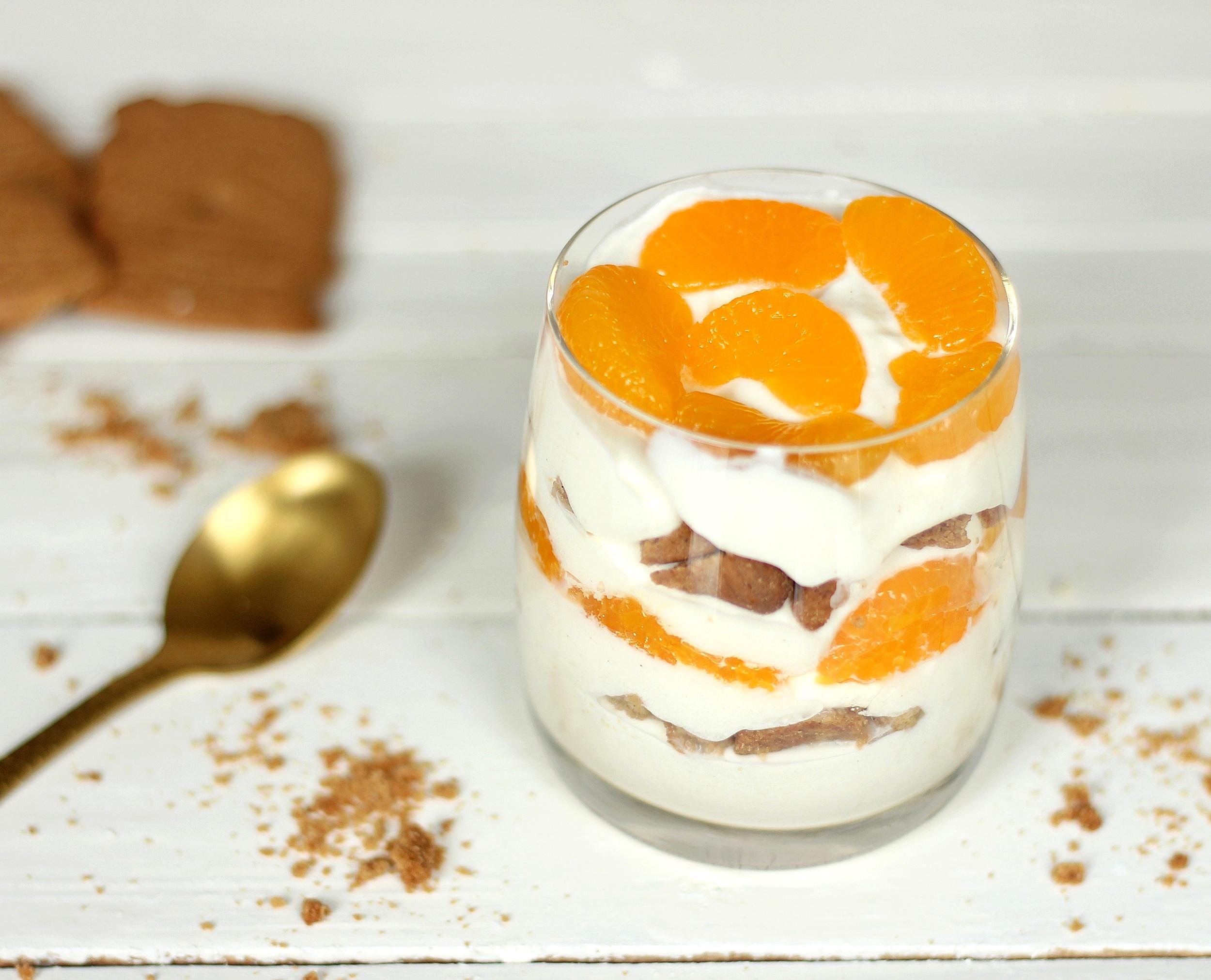 Spekulatius-Mandarinen-Dessert Spekulatius Dessert im Glas