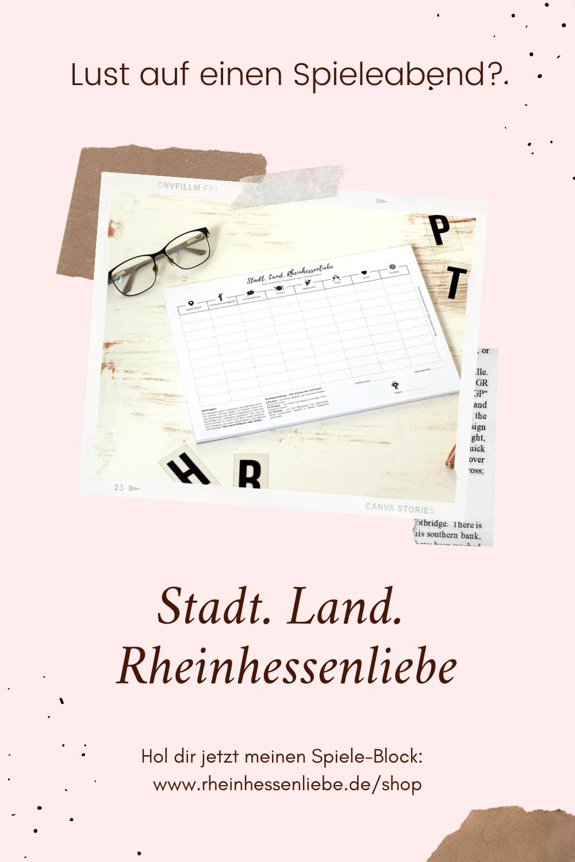 Stadt Land Rheinhessenliebe Spiele Block